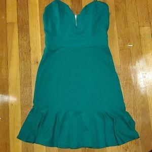 NWT Strapless Green Dress Sz M